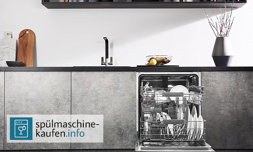 Spuelmaschine integriert in moderne Küchenzeile